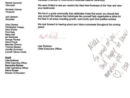 Beautiful Letter from a Wonderful CEO