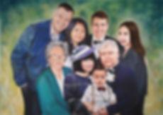Family Portrait Pastel Painting by Simon Aberlé