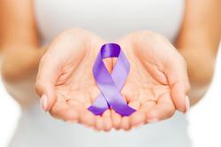 Fotosearch purple ribbon hands