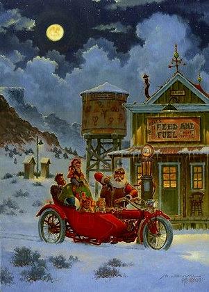 "Santa's Sleighmobile   8"" x 10"""