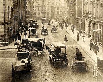 Traffic on State Street, Boston, Massach