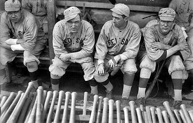 1916 Babe Ruth Bill Carrigan Jack Barry