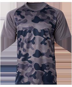 Crossrunner Dense Camo Raglan T-shirt