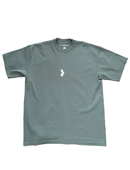CENTER LOGO TEE WASHED GREEN