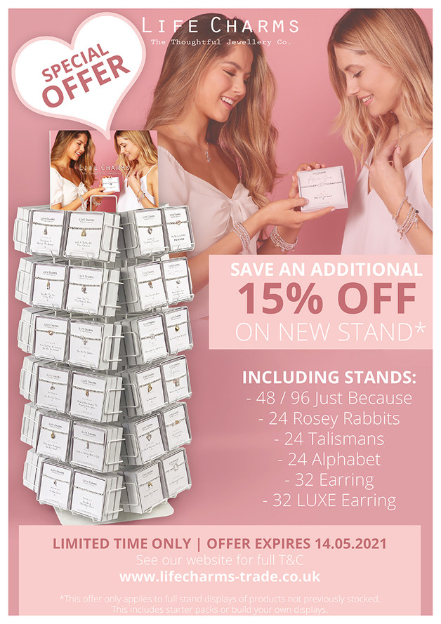 ADDITIONAL 15% OFF ON NEW STAND!