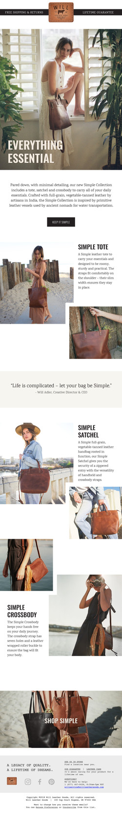 Simple Collection Launch Email