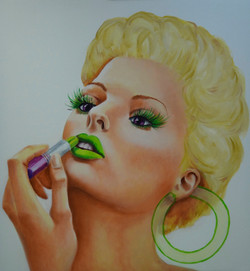 Lucite Lady in Green