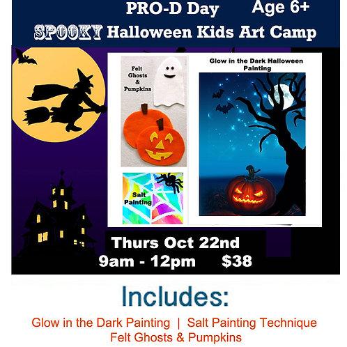 Halloween Kids Art Camp  Thurs Oct 22nd 9am - 12