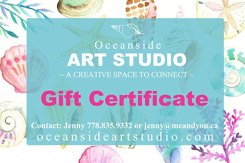 Gift Certificate - Choose from $20, $25 & $50
