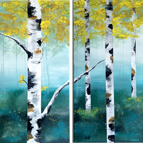 Summer Birch (side by side)