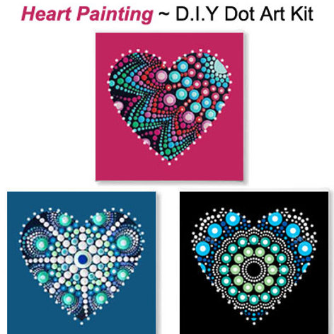 Heart Art - Dot Art Kit