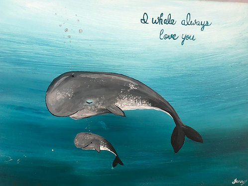 I Whale Always Love You ~ FREE Online Art Class