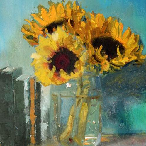 Sunflower Still Life Study