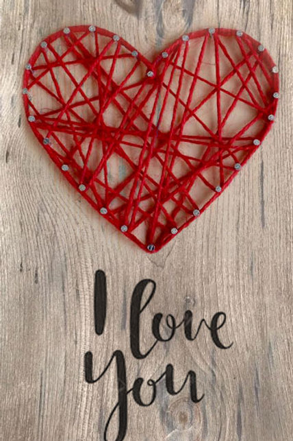 HEART  ~ DIY String Art Kit