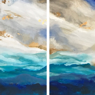 Abstract Gold Leaf (Side by Side)