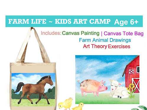 Farm Life Kids Art Camp - AGES 6+