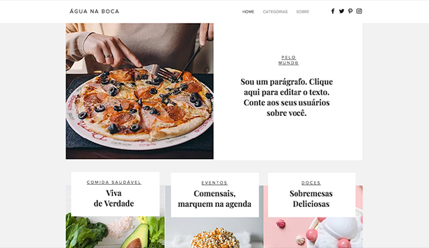 Estilo de Vida website templates – Blog de Culinária