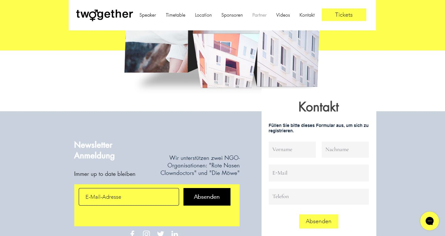 Website Verein twogether wien