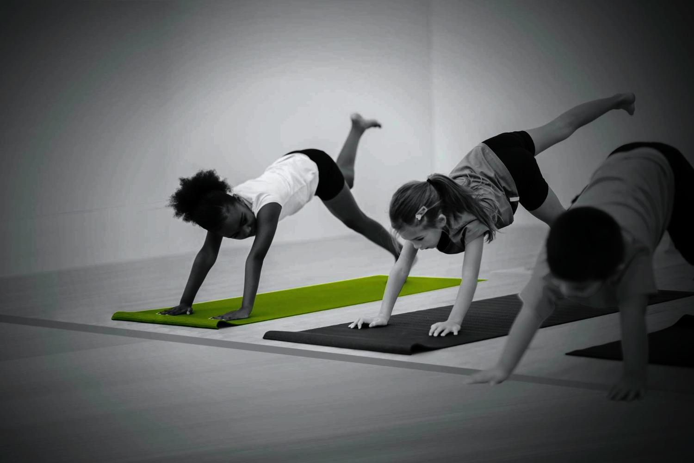 Training mit ihren Kindern