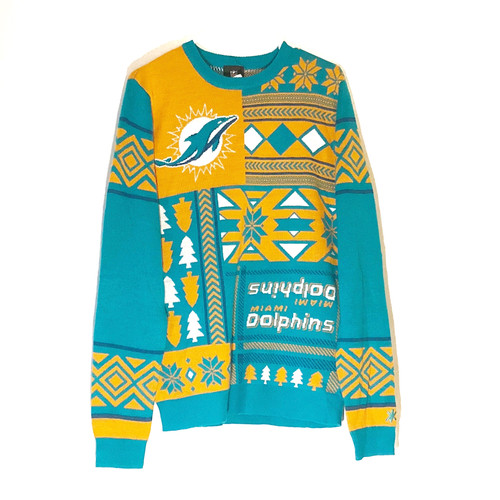 Miami Dolphins Ugly Sweater