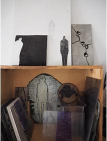 Laurence Briat | atelier des gravures | plaques | matrices | plexiglass | bois | carton |
