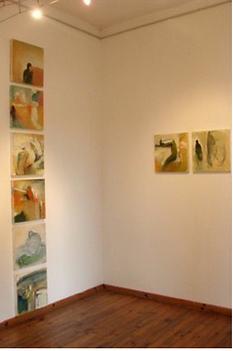 Laurence Briat | installation l suite de peintures | série | présences l formes humaines l