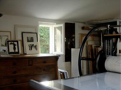 Laurence Briat | atelier gravure | presse gravure | taille douce |