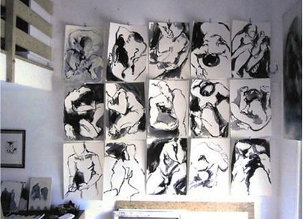 Laurence Briat | encres de Chine | dessins | modèle vivant |
