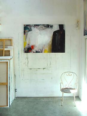 Atelier Laurence Briat | peinture | acrylique | présence humaine | silhouette | lumière |