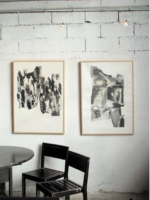 Laurence Briat | gravure l grand format | noir et blanc l MGM l méditerranée |