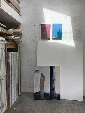 Atelier Laurence Briat | peinture | acrylique | présence humaine | silhouette |