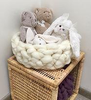 panier tricot avec les bras laine xxl
