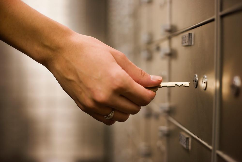 Safe deposit box for estate planning documents