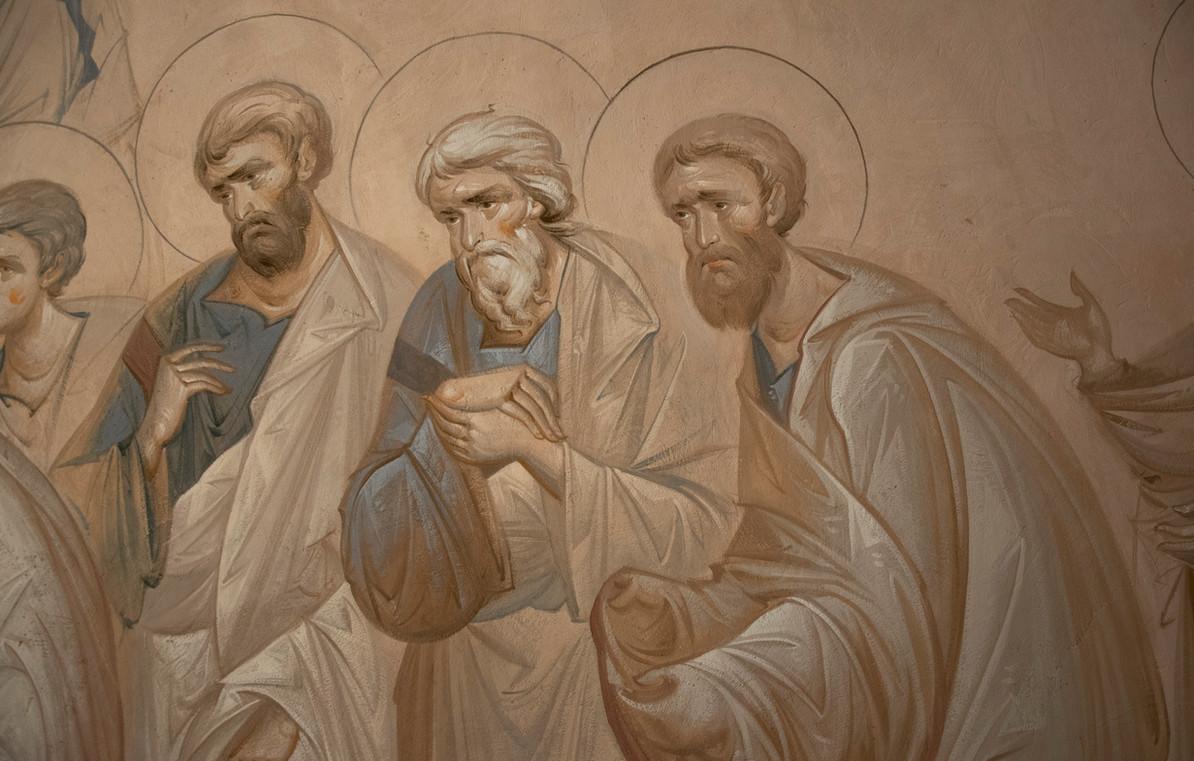 Успение, апостолы , фрагмент