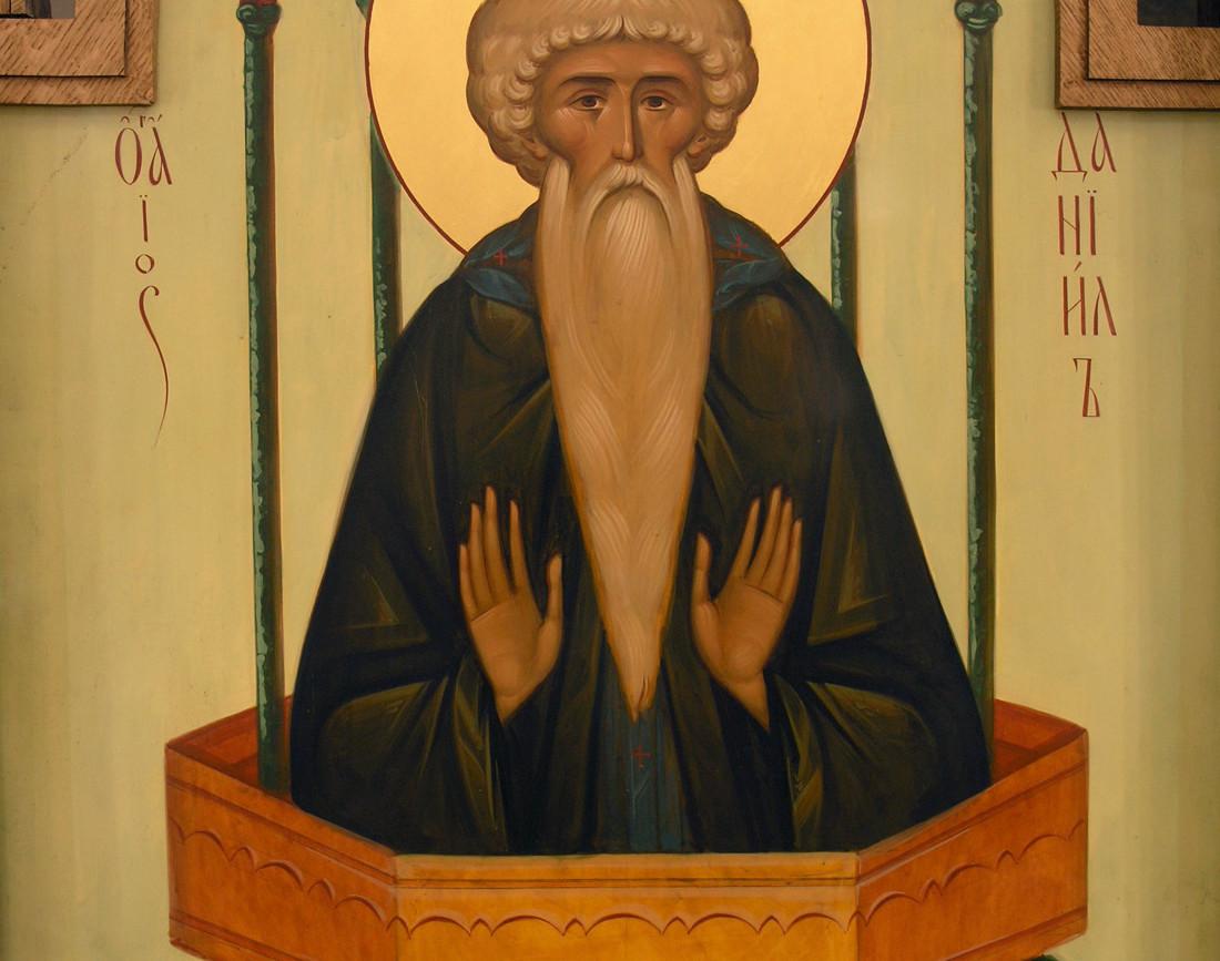 св. Даниил Столпник, фрагмент иконостаса храма Воскрешения Праведного Лазаря