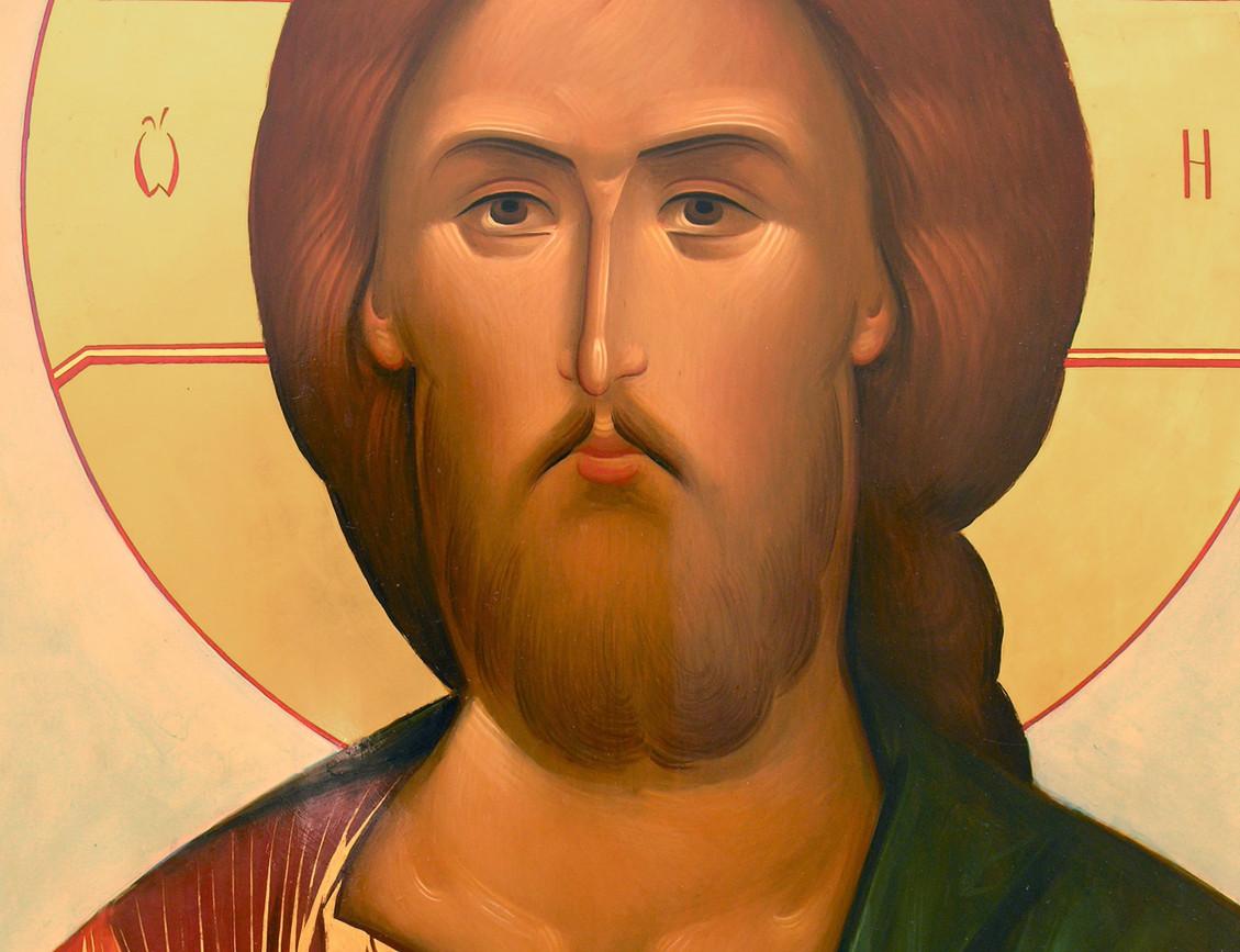 Спаситель, фрагмент иконостаса храма Воскрешения Праведного Лазаря