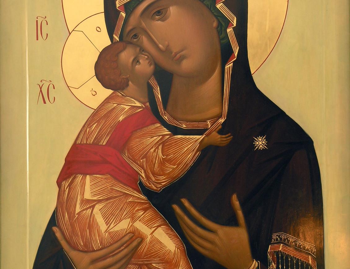 Владимирская икона Божией Матери, иконостас храма Воскрешения Праведного Лазаря