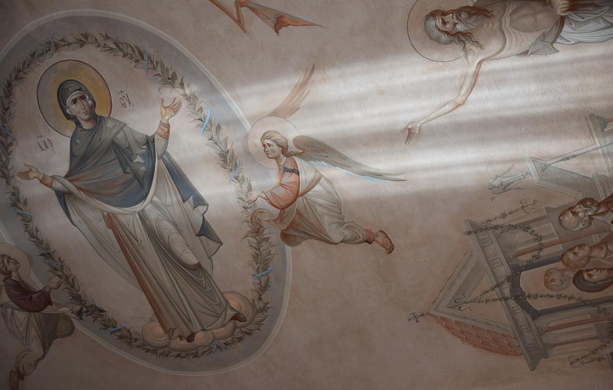Покров Пресвятой Богородицы, свод в притворе, фрагмент