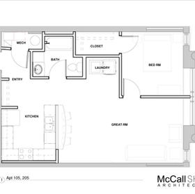 Apartment 105, 205