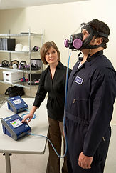 Respirator fit testing dust, canister positive pressure mask fit test training