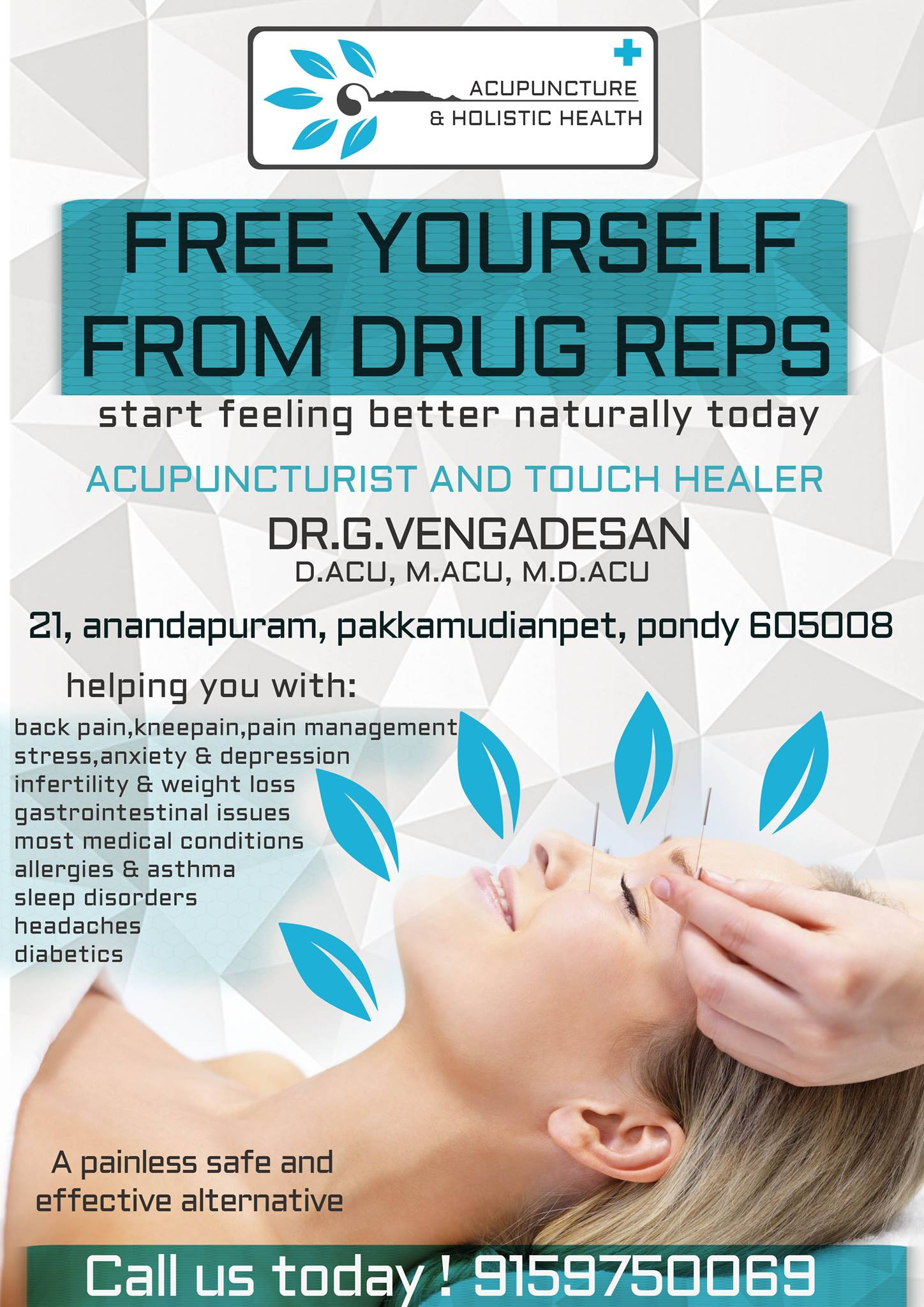 Acupuncture hospital flyer design