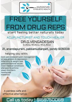 Acupuncture hospital flyer design