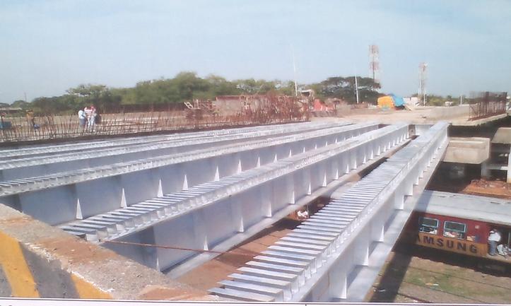 composite steel girders -31 Mtrs span.pn