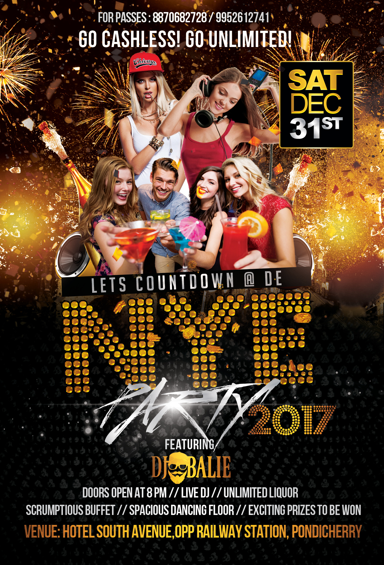 New Year event flyer Design