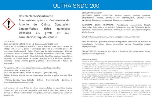 Sanitizante concentrado, SNDC ULTRA 200, Sanitizante para Mezclar
