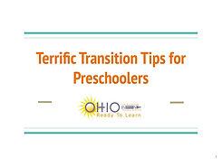 Terrific Transition Tips for Preschooler