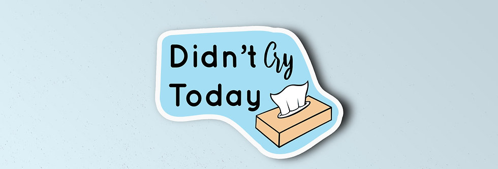 Didn't Cry Today Individual Sticker