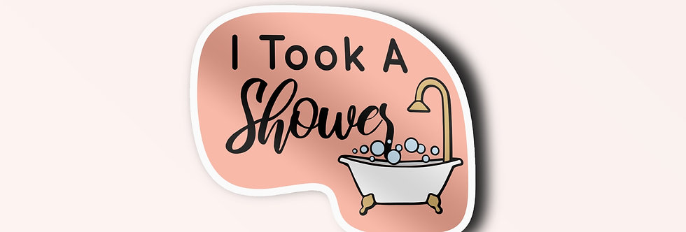 I Took A Shower Individual Sticker