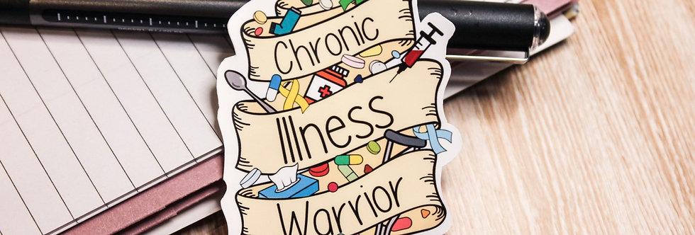 Chronic Illness Warrior- Sticker