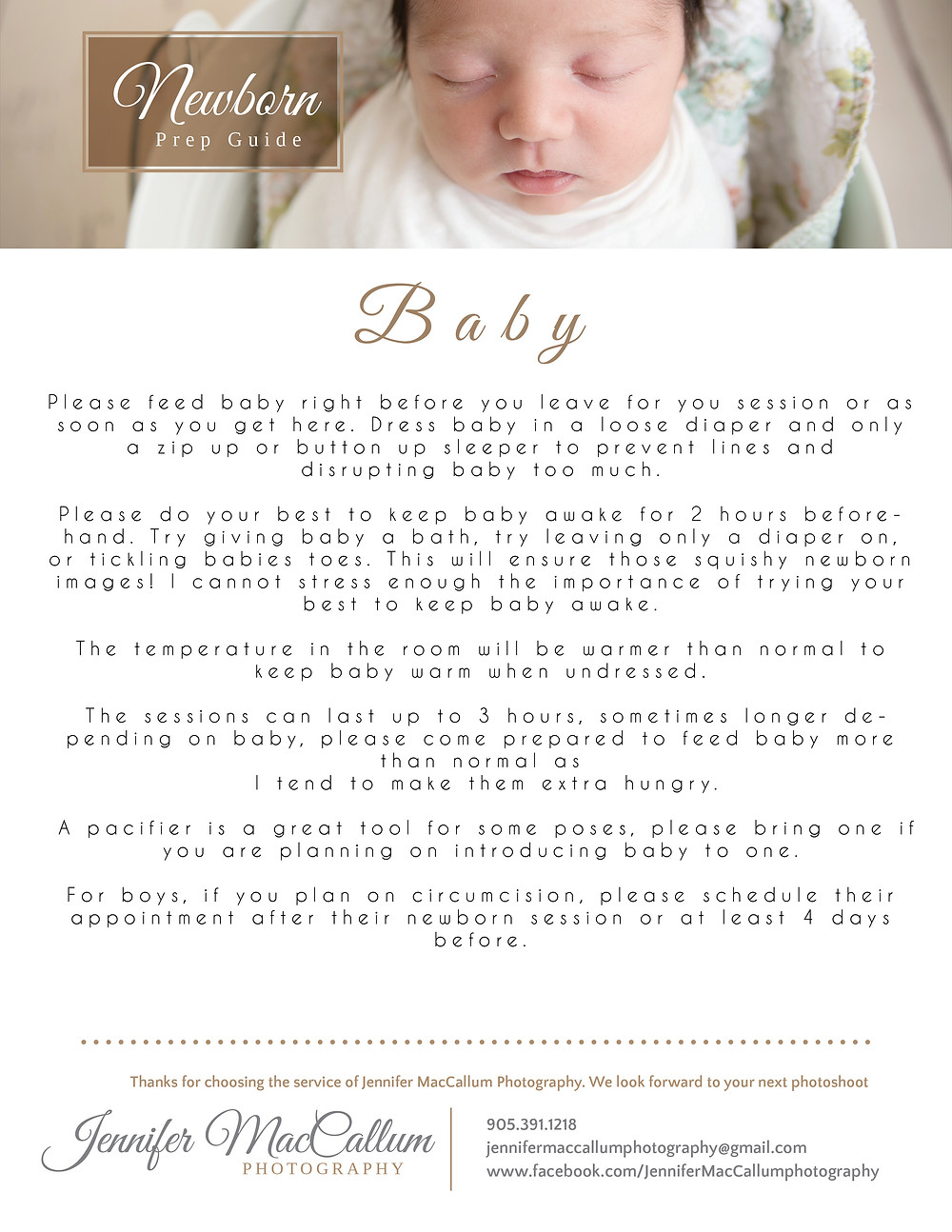Prep guide for newborn photography session